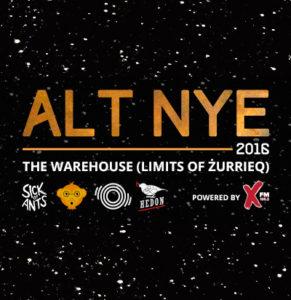 ALT NYE event festival bands djs alternative malta