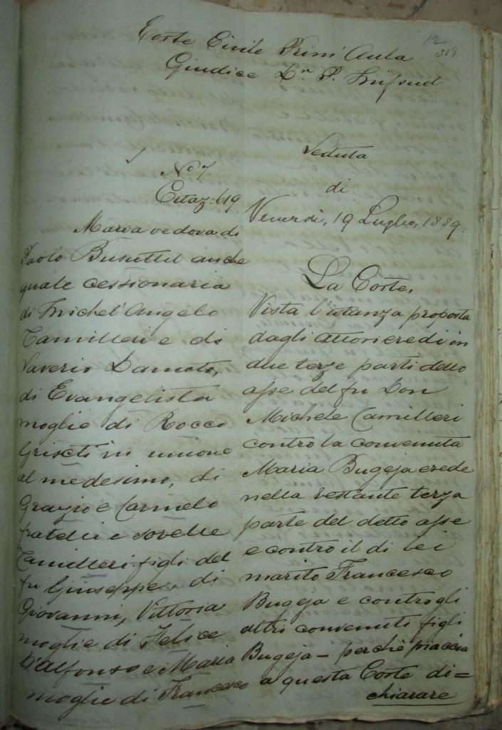 NAM Prim Aula Sent. 1889 Vol.VI f.319-min