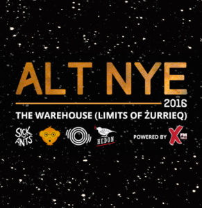 ALT NYE event festival bands djs alternative malta